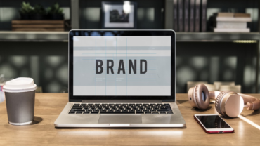 """""""Brand"""" displayed on a laptop screen."""